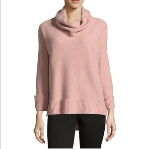 Liz Claiborne cowl neck sweater white !